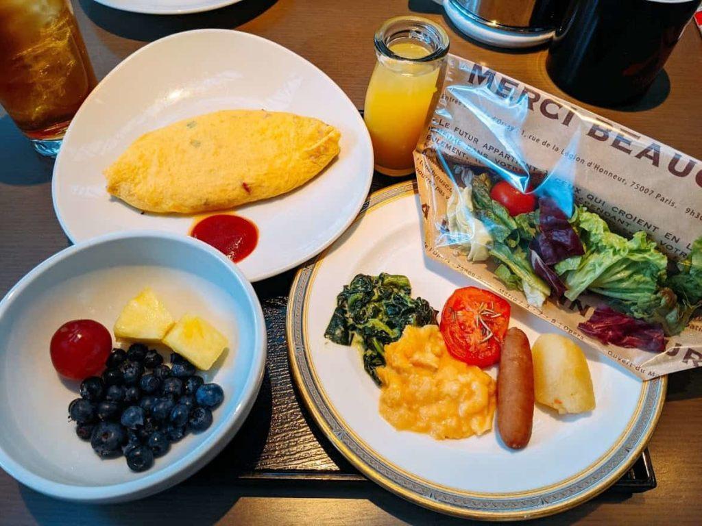 東京マリオットホテル-エグゼクティブフロア-宿泊レビュー朝食